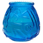Sterno CandleLamp Euro Venetians Blue Glass Candle -- 12 per case