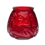 Sterno Euro Venetian Red Wax Filled Glass Candle -- 12 per case.