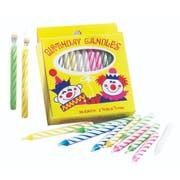 Sterno Spiral Stripe Birthday Candles -- 144 per case.