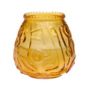 Sterno Euro Venetian Amber Wax Filled Glass Candle -- 12 per case.