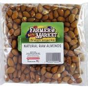 Farmers Market Natural Raw Almonds, 8 Ounce -- 8 per case
