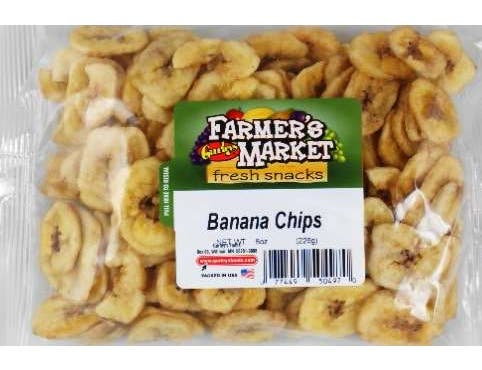 Farmers Market Banana Chips, 8 Ounce -- 8 per case