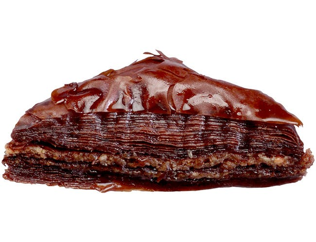 Krono Dessert Chocolate Triangle Baklava - 36 pieces per pack -- 2 packs per case.