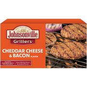 Johnsonville Cheddar Cheese and Real Bacon Flavor Bratwurst Patties, 24 Ounce -- 9 per case.