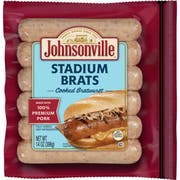 Johnsonville Stadium Style Smoked Brat - 6 per pack -- 10 packs per case.