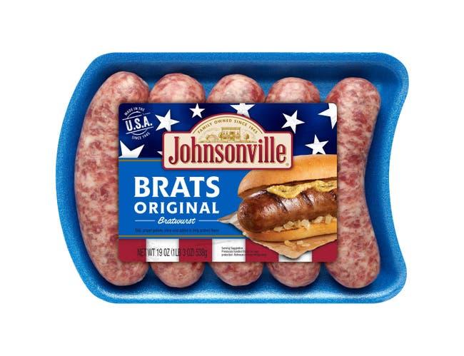 Johnsonville Original Bratwurst, 19 Ounce -- 12 per case.