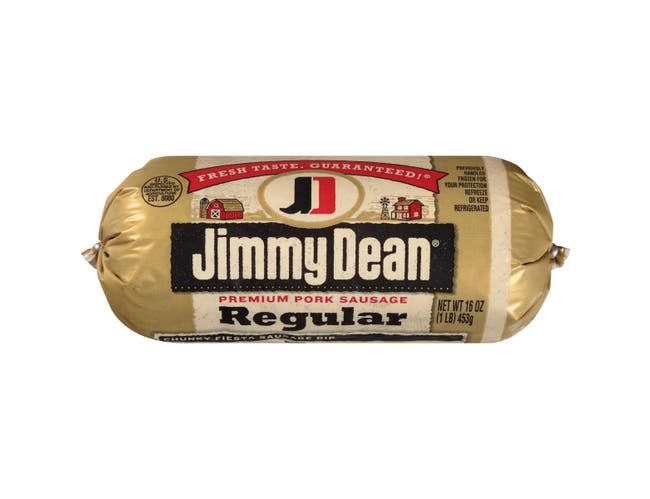 Jimmy Dean Premium Pork Regular Sausage Roll, 16 ounce -- 12 per case