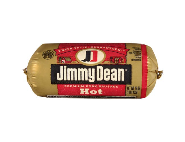 Jimmy Dean Hot Sausage Roll, 16 Ounce -- 12 per case.
