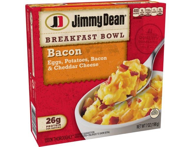 Jimmy Dean Entree Bacon Breakfast Bowl, 8 Ounce -- 8 per case.
