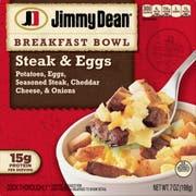 Jimmy Dean Steak and Egg Breakfast Bowl, 7 Ounce -- 8 per case.
