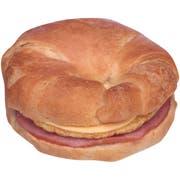 Jimmy Dean Ham Egg and Cheese Croissant Breakfast Sandwich, 3.9 Ounce -- 12 per case.