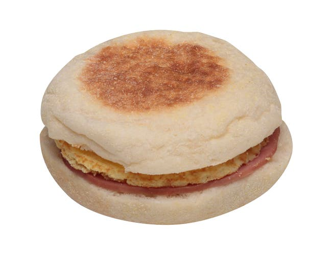 Jimmy Dean Egg and Cheese, Ham Muffin Sandwich, 4.2 Ounce -- 12 per case.