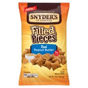 Snyders Peanut Butter Filled Pieces Pretzel, 10 Ounce -- 12 per case.