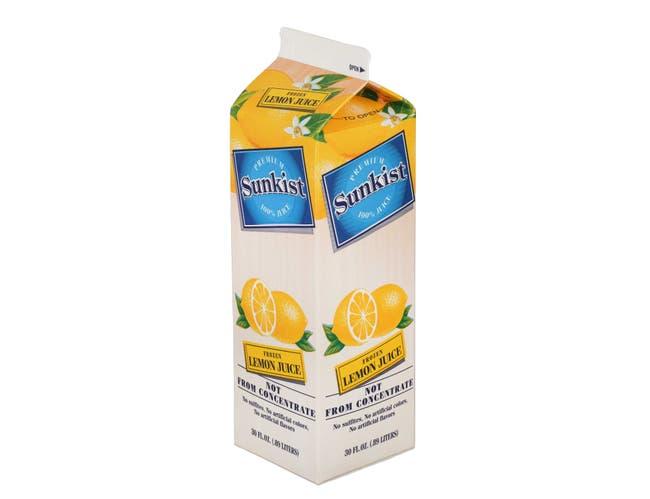 Vitality Foodservice Sunkist Lemon Juice, 30 Ounce -- 12 per case.