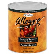 Allegro Tuscan Tomato and Herb Pasta Sauce, 105 Ounce -- 6 per case.
