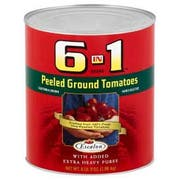 6 in 1 Peeled Ground Tomato Extra Heavy Puree, 102 Ounce -- 6 per case