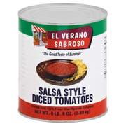 El Verano Sabroso Salsa Style Diced Tomatoes, 102 Ounce -- 6 per case.