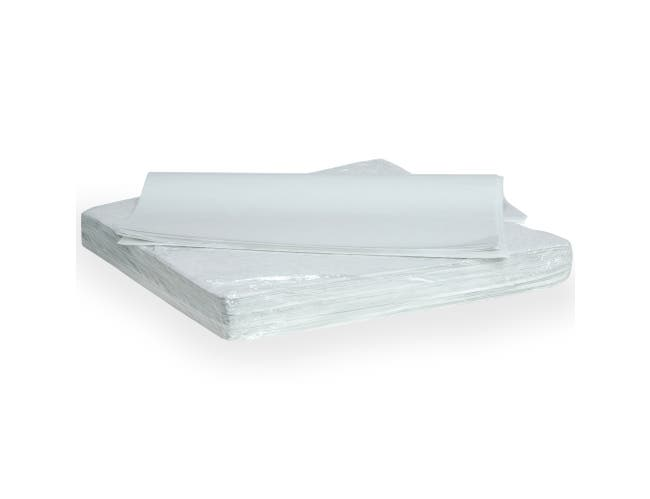 Quik Rap White Highly Grease Resistant Sandwich Paper -- 4000 per case.