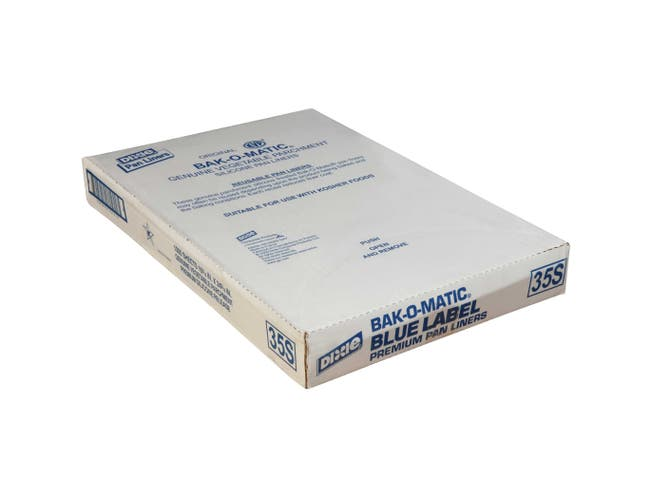 Dixie White Blue Label 35 Pound Greaseproof Silicone Coated Parchment Pan Liner -- 1000 per case.