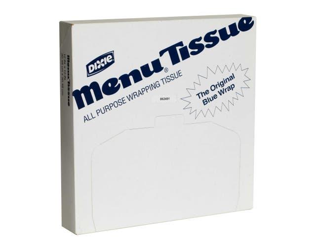 Dixie White Menu Tissue Paper No Wax -- 10000 per case.