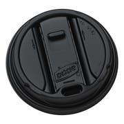 Dixie Smart Top Black Reclosable Dome Lid Only -- 1000 per case.