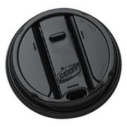 Dixie Black Smart Top Reclosable Dome Lid Only -- 1000 per case.