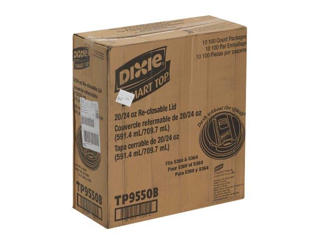 Dixie Black Smart Top Reclosable Dome Lid Only -- 1000 per case.
