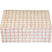 Dixie Red Plaid Medium Automatic Bottom Tuck Top Carryout Carton -- 250 per case.