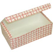 Dixie Red Plaid Large Automatic Bottom Tuck Top Carryout Carton -- 250 per case.