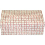 Dixie Red Plaid Medium Automatic Bottom Fast Top Carryout Carton, 5 x 9 x 3 inch -- 400 per case.