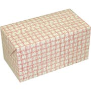 Dixie Red Plaid Large Automatic Bottom Fast Top Carryout Carton, 4.875 x 8.875 x 4.500 inch -- 400 per case.