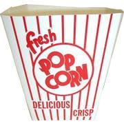 Dixie Red and White Stripe Preformed Popcorn Tub, 4.250 x 6.750 x 7.875 inch -- 200 per case.