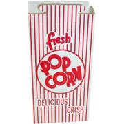 Dixie Red Automatic Bottom Popcorn Box with Hook and Eye Reclose Top, 47 Ounce -- 500 per case.