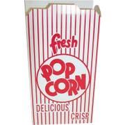 Dixie Red Automatic Bottom Popcorn Box, 2 x 4.687 x 7.5 inch -- 500 per case.