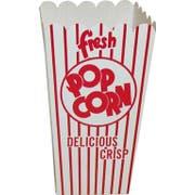 Dixie Red and White Stripe Quick Fill Scoop Popcorn Box, 2.5 x 3.5 x.6.25 inch -- 500 per case.