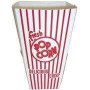 Dixie Red and White Stripe Preformed Popcorn Tub, 2.625 x 2.625 x 7 inch -- 500 per case.