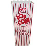 Dixie Red and White Stripe Quick Fill Scoop Popcorn Box, 2.5 x 3.5 x 7.75 inch -- 500 per case.