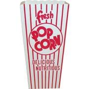 Dixie Red and White Stripe Quick Fill Scoop Popcorn Box, 3 x 4 x 8 inch -- 500 per case.