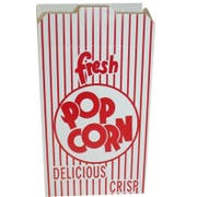 Dixie Red Automatic Bottom Popcorn Box, 2.5 x 5.750 x 8.5 inch -- 250 per case.
