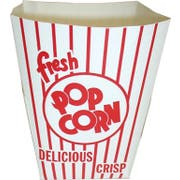 Dixie Red and White Stripe Preformed Popcorn Tub, 3.750 x 5.813 x 6.750 inch -- 200 per case.