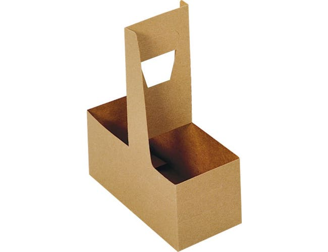 Dixie Unprinted 2 Cup Handled Drink Carrier -- 250 per case.