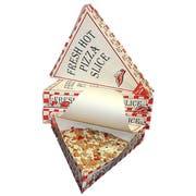 Dixie Print Single Slice Pizza Carton, 9 x 10 x 1.75 inch -- 250 per case.