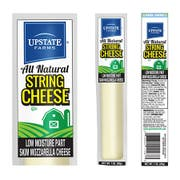 Upstate Farms Low Moisture Part Skim String Cheese, 1 Ounce -- 168 per case.