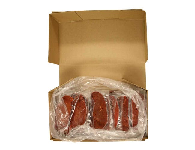Skylark Meats Sliced Beef Liver, 4 Ounce -- 40 per case.