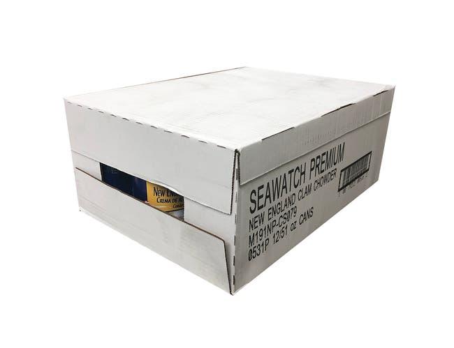 Sea Watch Premium Condensed New England Clam Chowder - 51 oz. can, 12 per case