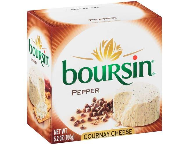 Boursin Pepper Cheese Spreadable, 5.2 Ounce -- 6 per case