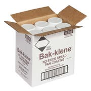 Bakers Klene Bread Aerosol Pan Coatings -- 6 Case 14 Ounce