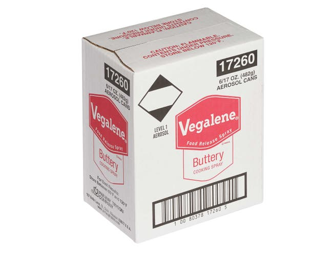 Vegalene Buttery Cooking Spray, 17 Ounce -- 6 per case.