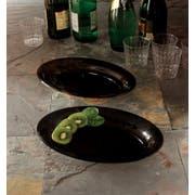 Party Tray Oval Black Salad Bowl, 1/2 Gallon -- 50 per case.