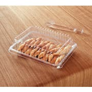 Party Tray Rectangular Clear Lid Only, 10 x 8 inch -- 50 per case.